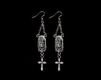 Guadalupe Rosary Earrings