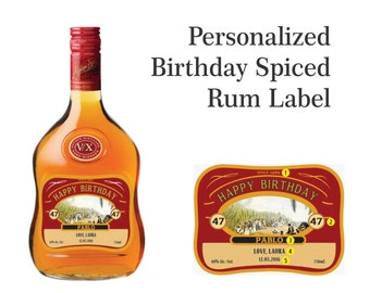 Personalized Rum Labels (Birthday Gift)