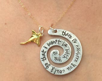 Moana Necklace , There Is Nowhere You Could Go That I Won't Be With You, Moana, Necklace , Handmade Necklace , natashaaloha