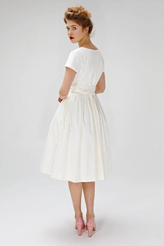 Schlichtes Brautkleid Kleid der 1950er Jahre Hochzeit Kleid