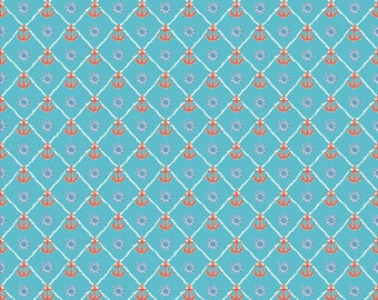 "12"" x 12"" Oracal Patterned Vinyl - Anchors Light Blue by Sparkle Berry"