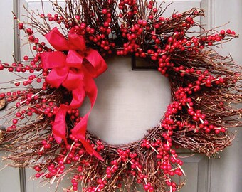 Vine & Red Berry Wreath
