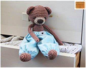 Mr. Sleepy Teddy - Organic Cotton - Nursery Decor
