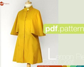 Patron femmes Cape manteau - tarte au citron - PDF (taille 34-48)
