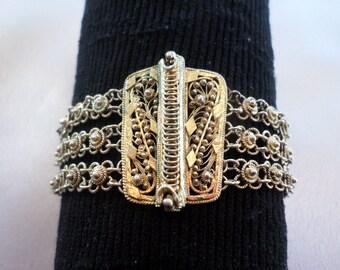 Vintage Substantial Fine Multi Chain Bracelet