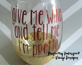 Glitter Stemless Wine Glass//Stemless Wine Glass//Personalized Stemless Wine//Personalized Wine Glass//Funny Gift//Gift For Wine Lover