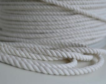Cotton rope 6mm X 220m - 3 strand