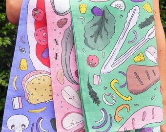 Tea Towel: 100% Linen, Australian Made, 8 patterns available