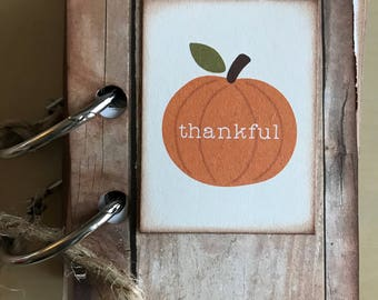 Gratitude thanks album / 52 reasons thankful great way to celebrate  Thanksgiving or autumn holiday /made to order / handwriting