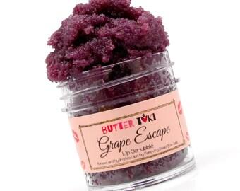 Grape Vegan Brown Sugar Lip Scrub Scrubbie for Baby Soft Lips 1oz