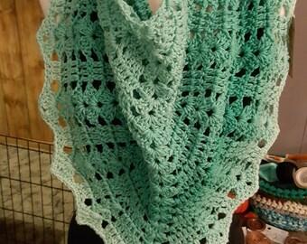 Winter mint ombre mimi shawl