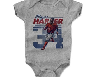 Bryce Harper Baby Clothes | Washington Baseball | Baby Romper | Bryce Harper Retro B