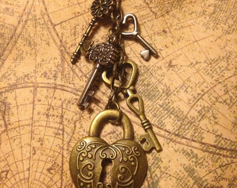 Valentine Lock and Keys Necklace