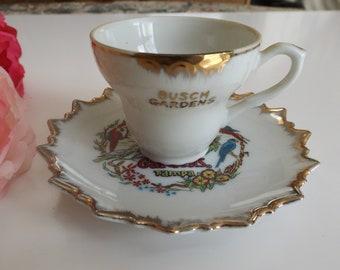 Busch Gardens Tampa porcelain Souvenir cup and saucer to your collection.  Gift idea.