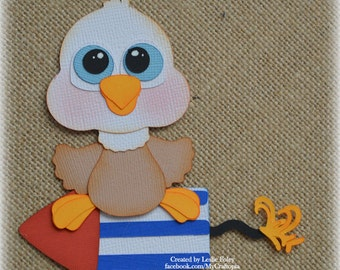 4th of July Bald Eagle  Premade Scrapbooking Embellishment Paper Piecing