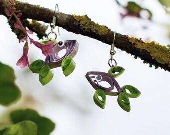 Paper Fish - earring