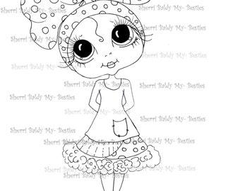 INSTANT DOWNLOAD Digital Digi Stamps Big Eye Big Head Dolls Messy Bessy My Besties Bowzie Boo 1 By Sherri Baldy