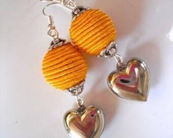 Yellow/orange earrings