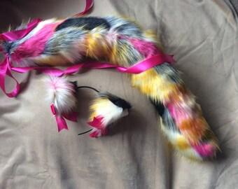 Harlequin Kitten Play Set Tail & Ears