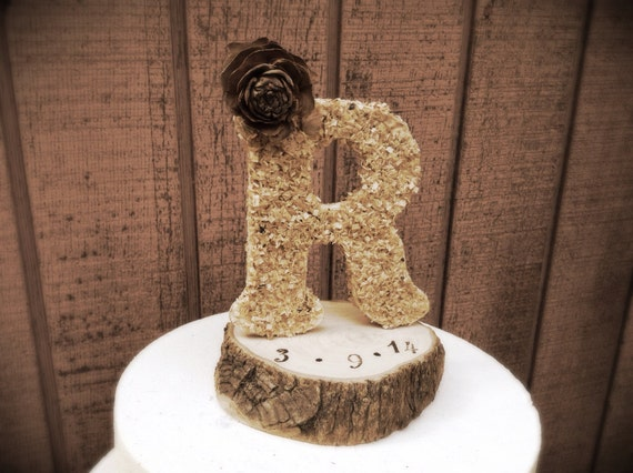 wedding cakes with letter toppers rustic wedding cake topper wooden letter country weddings 26054