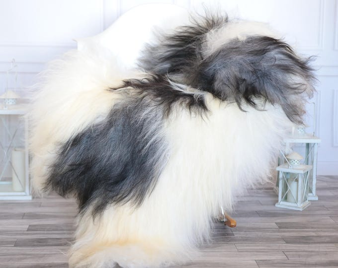 Icelandic Sheepskin | Real Sheepskin Rug | Ivory Gray Sheepskin Rug | Fur Rug | Christmas Decorations #ISLA21