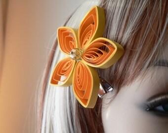 Yellow Wedding Hair Accessory, Yellow Flower Hair Clip, Yellow Bridal Hair Piece