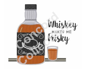 Whiskey Machine Embroidery Design