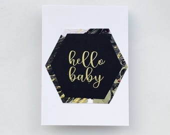 HELLO BABY, baby shower, greeting card, baby, baby shower greeting card