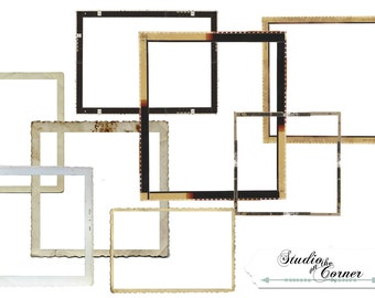 Digital Scrapbook Frames, Film Frames, Digital Frames, Scrapbook Frames, Vintage Film Frames,