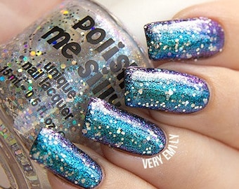 Multichrome Topper - STARDUST - Color Changing Polish  Custom-Blended Glitter Nail Polish / Indie Lacquer / Polish Me Silly
