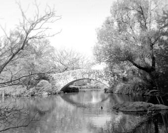New York Photography Print, Black White Print, Central Park, NYC Wall Art, Gapstow Bridge, Travel Picture, Wall Decor, 8 x 10 Print,