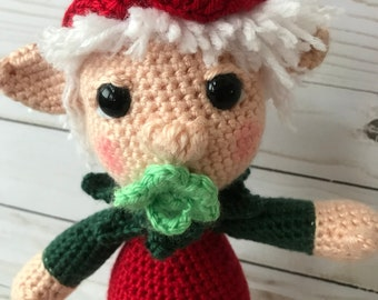 Simon the Elf Stuffed Animal Toy Amigurumi