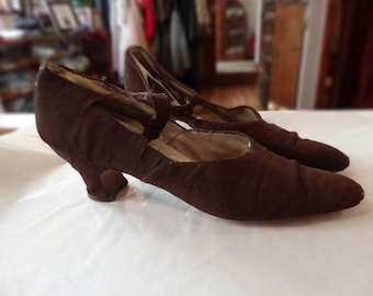 Vintage 1920s Shoes - Silk