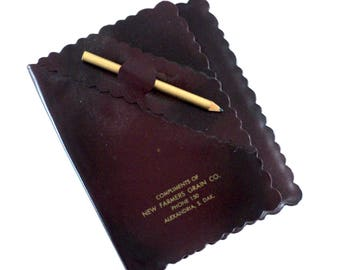 Pleather Notebook with Pencil