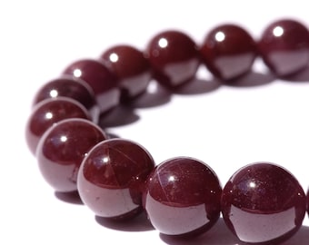 8mm Star Garnet Stretch Bracelet / January Jewelry Gift / January birthstone