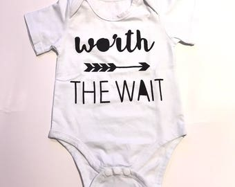 Worth The Wait Onesie 6-12 MONTHS