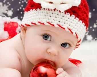 Noël bébé nouveau-né fille chapeau bonnet