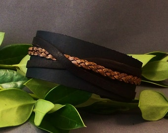 Black Leather Cuff-Leather Bracelet-Leather Cuff-Women Bracelet-Black Leather Watch Band- Men Cuff-Women Cuff-Men's-Bracelet-Gift for Him