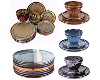 Build your own pottery dinnerware set. Each piece sold individually. See item details for more info! MADE TO ORDER, allow up to 8 weeks.