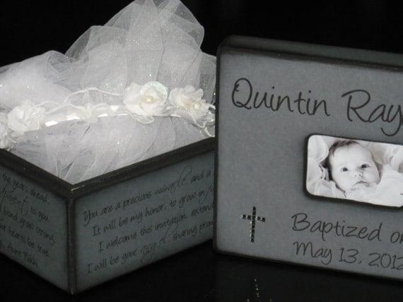 Baptism Gift For Godparents Christening Gift Godparents: Keepsake Box Personalized Baptism Gift For Godchild Gift