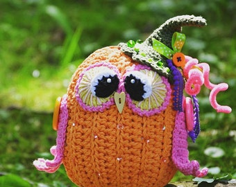 Crochet pattern - Pumpkin owl by VendulkaM - amigurumi/ crochet toy, digital pattern, DIY, pdf
