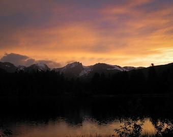 Sunset at Sprague Lake, Rocky Mountain National Park, Colorado