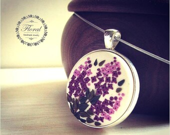 Mother Birthday gift- Lilac Flower Necklace- Charm Jewelry,Idea for Mom Gift- Unique Necklace Gift|for|Mom- Gift|for|Wife- Nature Jewelry