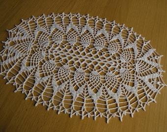 """Doily crochet oval """"Hazelnut"""""""
