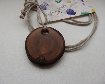 Wood Pendant,Wood Necklace, Wood Slice Jewellery, Rustic Jewelry, Rustic Necklace, Boho Necklace, Statement Jewelry