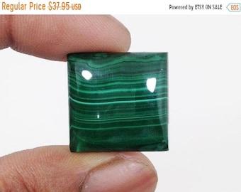 90% SALE Malachite Cabochon 51Ct. (21x20x7 mm) Crazy Shape Natural Gemstone NS21644