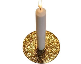 Brass Kutch taper candle holder
