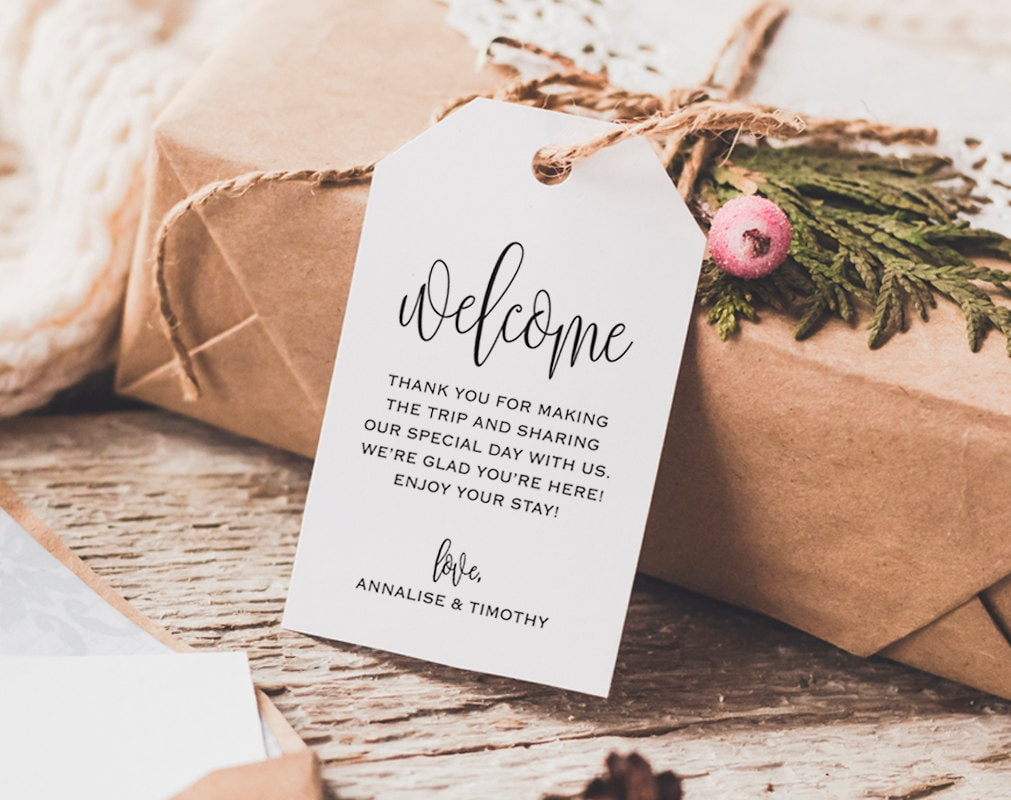 Welcome Wedding Tag Wedding Welcome Bag Tag Wedding Welcome