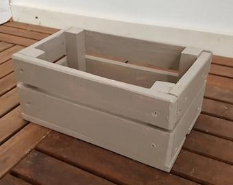 Small grey garden crate