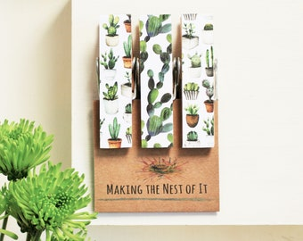 Succulents Cactus Big Clothespins Strong Magnet Clips
